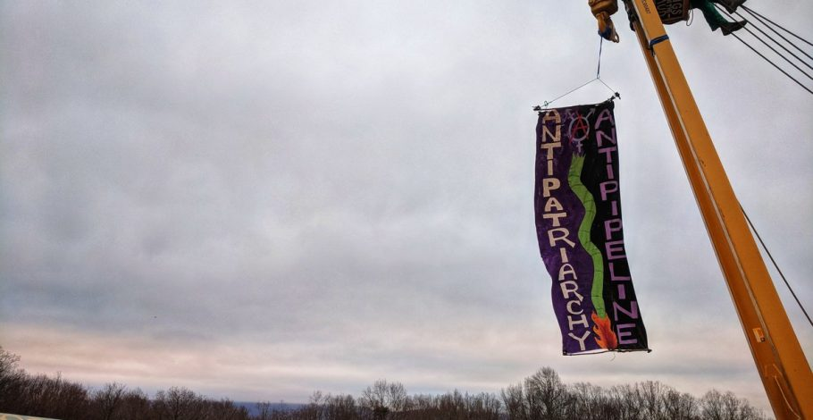 "West Virginia State Police Remove Pipeline Protestor Sporting Massive ""Antipatriarchy"" Sign"