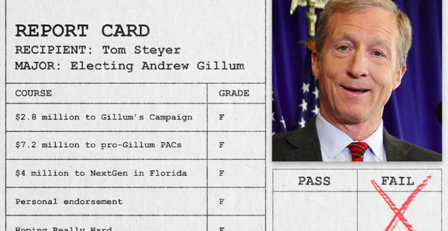 "The Grades Are In: Tom Steyer Gets ""F"" In Florida"