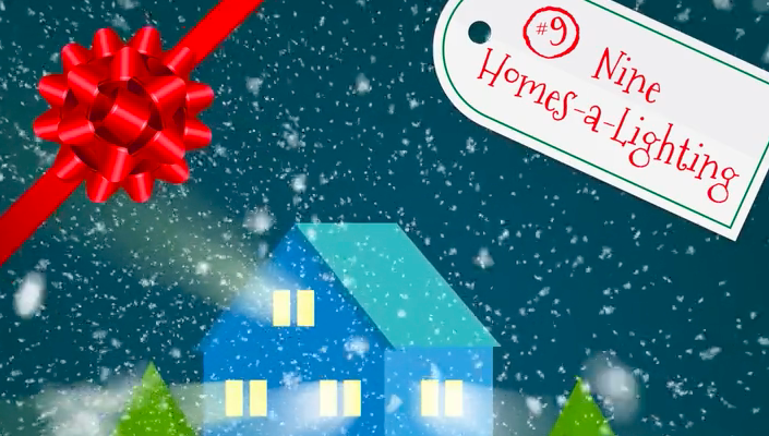 On The Ninth Day Of Christmas My Country Gave To Me: Nine Homes-A-Lighting