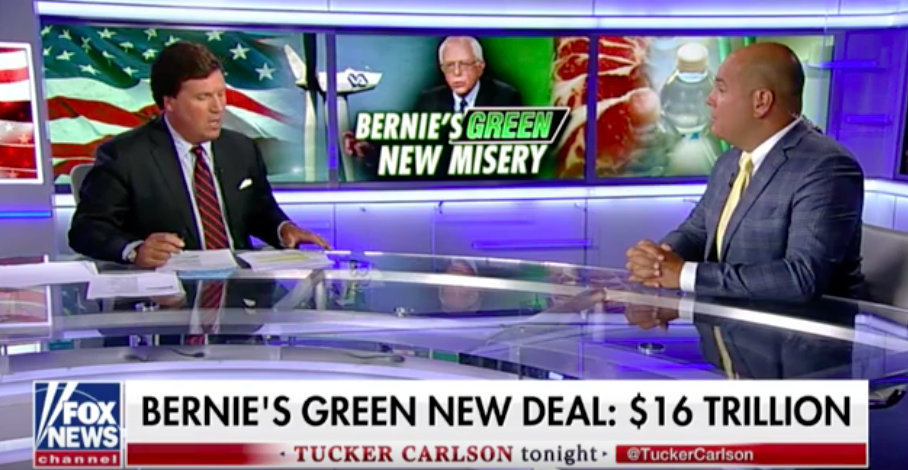Daniel Turner and Tucker Carlson Discuss Bernie Sanders's Disastrous Climate Plan