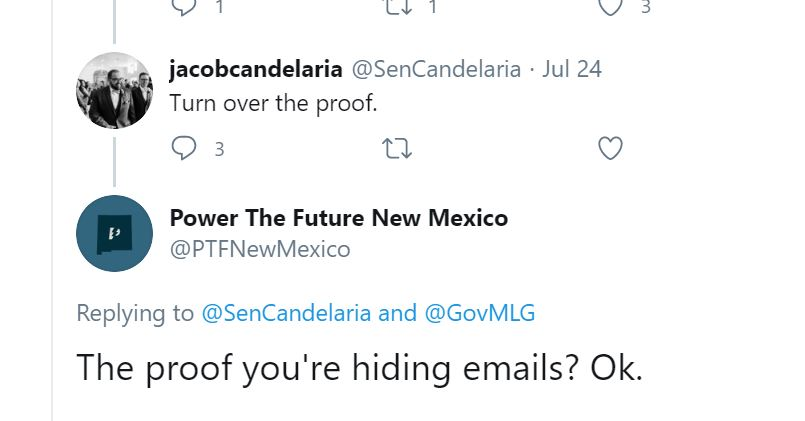 Suddenly Silent: Sponsor of New Mexico's Green New Deal Goes Quiet About Hidden Emails