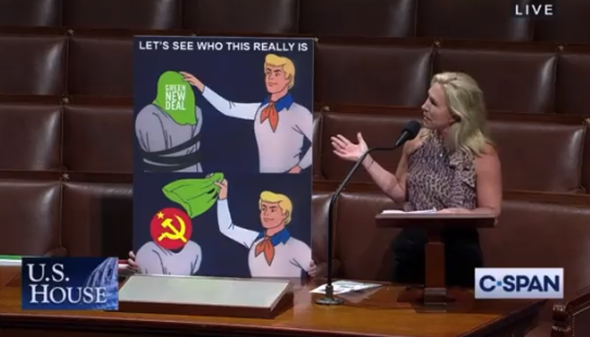 Rep. Majorie Taylor Green Uses Scooby-Doo Meme to Show GND is Communism in Disguise